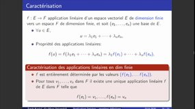 Cours Applications Linéaires (4) - Dimension finie