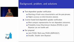 Odyssey 2018 - A Double Joint Bayesian Approach for J-Vector Based Text-dependent Speaker Verification