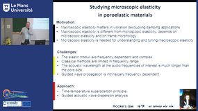 Photoacoustic determination of mechanical properties at microstructure level, by Christ Glorieux (KULeuven)