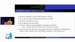 Odyssey 2018 - DeepMine Speech Processing Database: Text-Dependent and Independent Speaker Verification and Speech Recognition in Persian and English